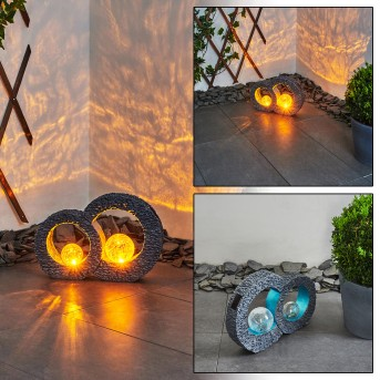 Siviri solar light LED blue, grey, transparent, clear, 1-light source