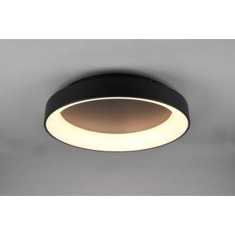 Trio Girona Ceiling Light LED black, 1-light source, Remote control