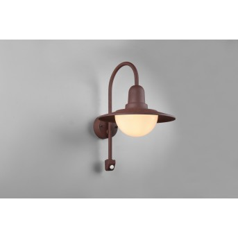 Trio Norman Outdoor Wall Light rust-coloured, 1-light source, Motion sensor