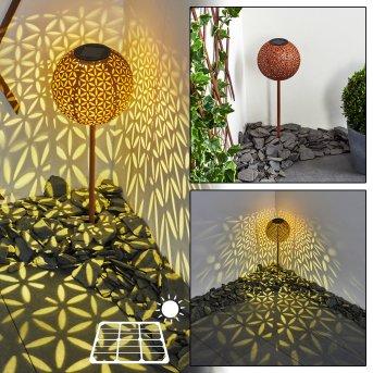 Samoao solar light LED black, rust-coloured, 1-light source