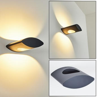 Lémettou Outdoor Wall Light LED anthracite, white, 1-light source