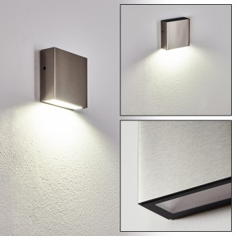 Spidern Outdoor Wall Light LED matt nickel, white, 1-light source