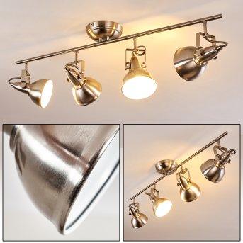 TINA ceiling light matt nickel, 4-light sources
