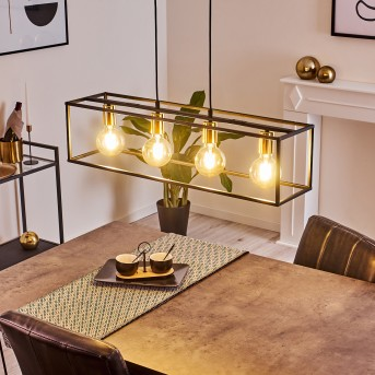 Flambeau Pendant Light black, 4-light sources