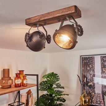 Herford Ceiling Light brown, Dark wood, 2-light sources