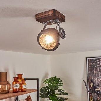 Herford Ceiling Light grey, Dark wood, 1-light source