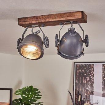 Herford Ceiling Light grey, Dark wood, 2-light sources