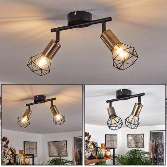 Baripada Ceiling Light brass, black, 2-light sources