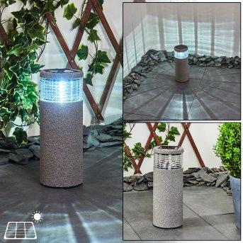 Mesabolo solar light LED black, grey, 1-light source