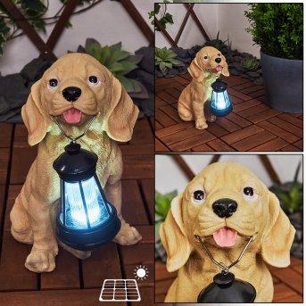Sofie solar light LED black, brown, 1-light source