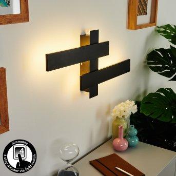 Cuchara Wall Light LED black, 2-light sources