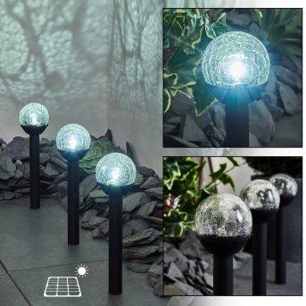 Colognole Set of 3 solar lights LED black, 1-light source