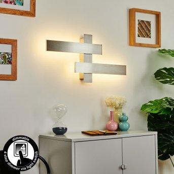 Cuchara Wall Light LED matt nickel, 2-light sources