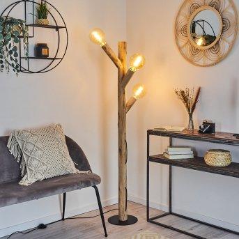 Pozos Floor Lamp black, Light wood, 3-light sources