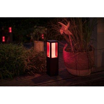 Philips HUE AMBIANCE WHITE & COLOR IMPRESS Pedestal light, base set LED black, 1-light source, Colour changer