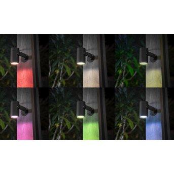 Philips HUE AMBIANCE WHITE & COLOR WACA LILY Spot, base set of 3 LED black, 1-light source, Colour changer