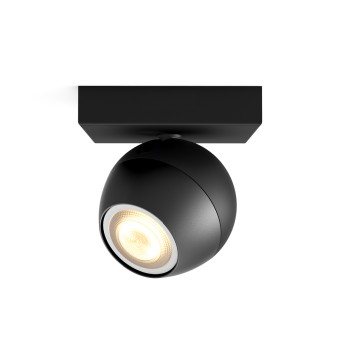 Philips HUE AMBIANCE WHITE BUCKRAM Spotlight, extension black, 1-light source