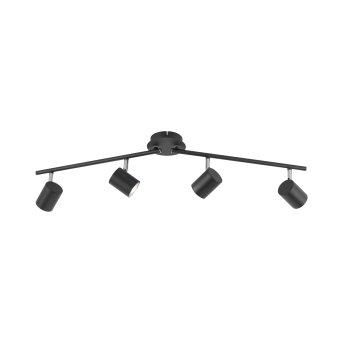Leuchten Direkt TARIK Ceiling Light LED black, 4-light sources