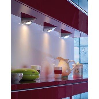 Leuchten Direkt THEO under cabinet light LED stainless steel, 3-light sources