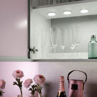 Leuchten Direkt THEO under cabinet light LED silver, 3-light sources