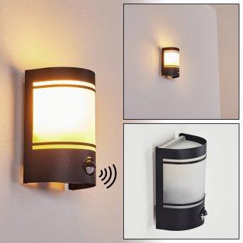 Visnum Outdoor Wall Light black, white, 1-light source, Motion sensor