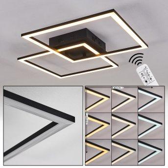 Thara Ceiling Light LED black, 1-light source, Remote control