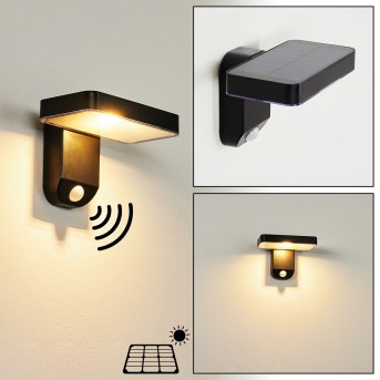 Bondarp Solar lights LED black, 1-light source, Motion sensor