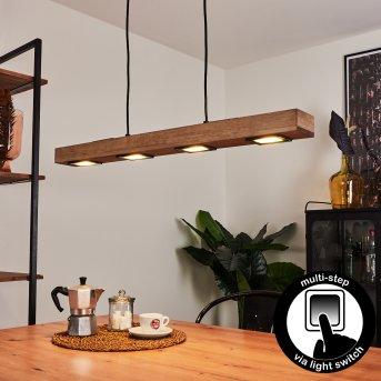 Giresta Pendant Light LED black, 6-light sources