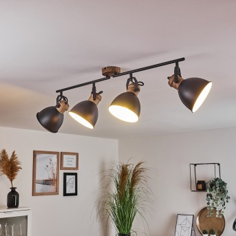 Banjul Ceiling Light black, brown, 4-light sources