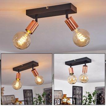 Tulla Ceiling Light black, copper, 2-light sources