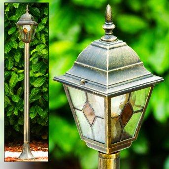 Antibes outdoor floor lamp brown, gold, 1-light source