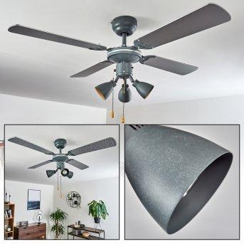 Marigliano ceiling fan grey, silver