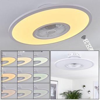Marmorta ceiling fan LED white, 1-light source, Remote control