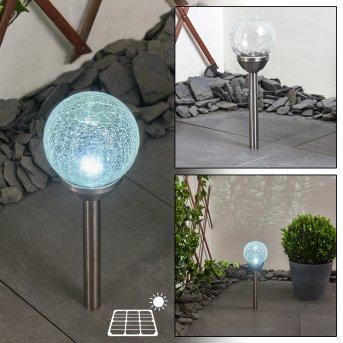 Carbonia Solar lights LED matt nickel, 1-light source