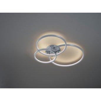 Trio AARON Ceiling Light LED matt nickel, 1-light source, Remote control, Colour changer