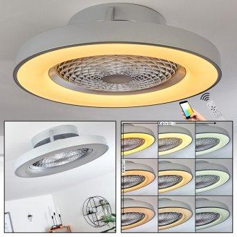 Penon ceiling fan LED silver, 1-light source, Remote control