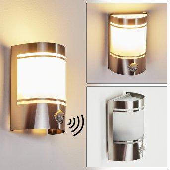 Visnum Outdoor Wall Light matt nickel, white, 1-light source, Motion sensor