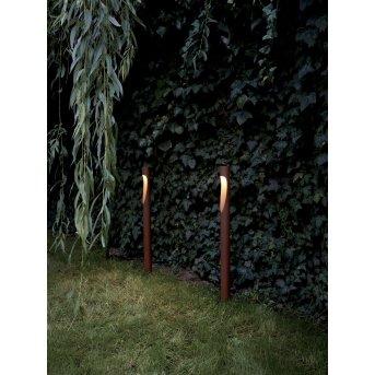 Louis Poulsen Flindt path light LED rust-coloured, 1-light source