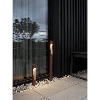 Louis Poulsen Flindt bollard light LED rust-coloured, 1-light source