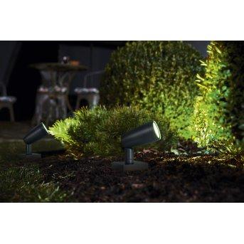 LEDVANCE GARDEN SPOT Outdoor Wall Light grey, 1-light source, Colour changer
