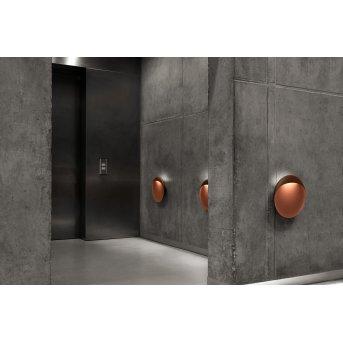 Louis Poulsen Flindt Outdoor Wall Light LED rust-coloured, 1-light source