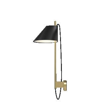 Louis Poulsen Yuh Wall Light LED brass, black, 1-light source