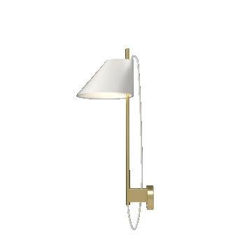Louis Poulsen Yuh Wall Light LED brass, white, 1-light source
