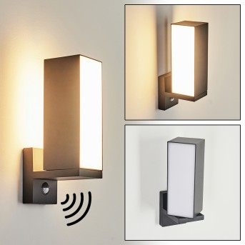 Swanek Outdoor Wall Light LED anthracite, 1-light source, Motion sensor