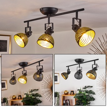 Osina Ceiling Light black, 3-light sources