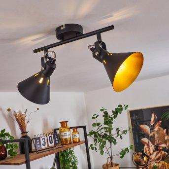 Upiano Ceiling Light chrome, black, 2-light sources