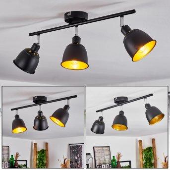 Pistrino Ceiling Light chrome, black, 3-light sources