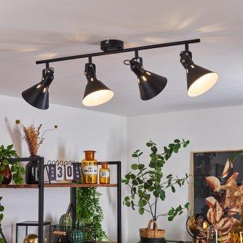 Upiano Ceiling Light chrome, black, 4-light sources