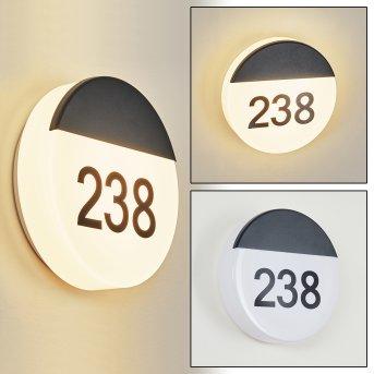 Eppeland house number light LED black, 1-light source