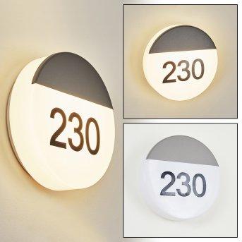 Eppeland house number light LED anthracite, 1-light source